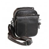 Waist packs for walking, coffee leather messenger bag