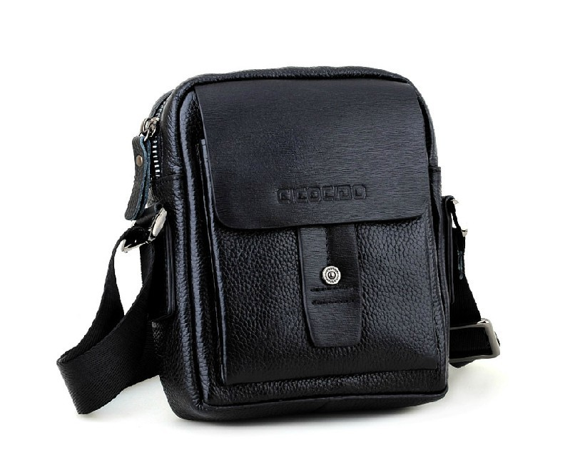 Small messenger bags for men, black perfect messenger bag - BagsWish