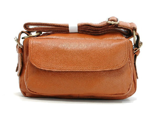 Brown Bag Orange Leather Bags For Women