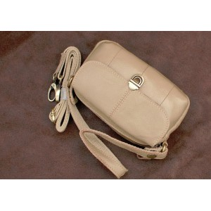 khaki Leather bag