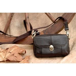 coffee leather cross body messenger bag