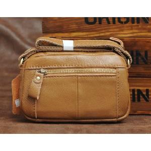 yellow leather cross body messenger bag