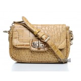 Great leather bag, crocodile leather crossbody bag