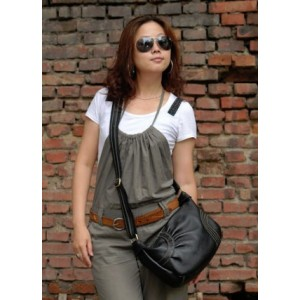 womens leather messenger purse
