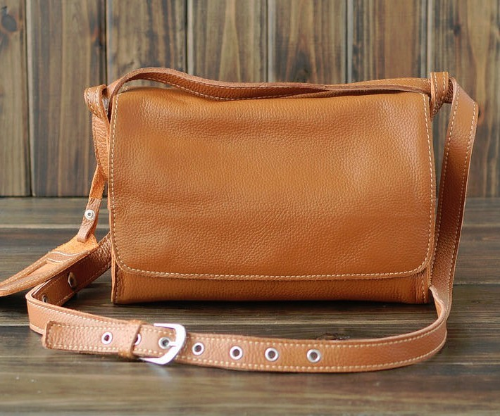 Leather messenger bag for women, leather purse - BagsWish