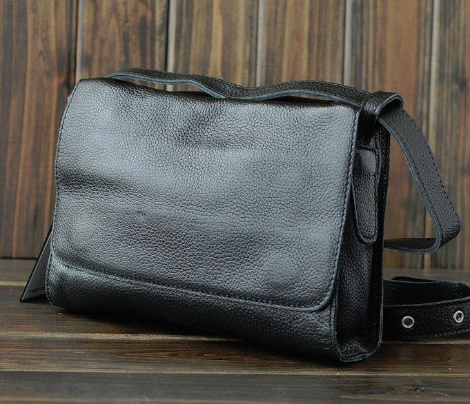 Popular Womens Lambskin Leather Backpack Purse Small Black Bookbag Style