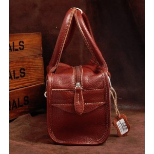 brown stylish leather handbag