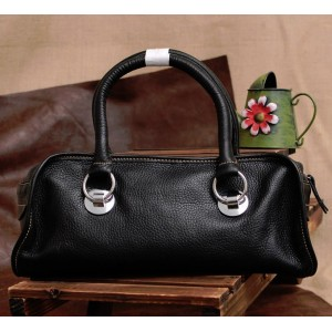 black Soft leather bag