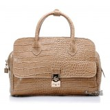 Cross body leather handbag, crocodile leather handbag