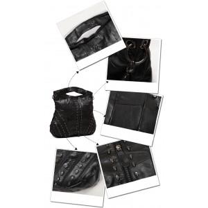 leather messenger shoulder bag for women