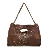 Brown leather satchel handbag, cheap leather handbag