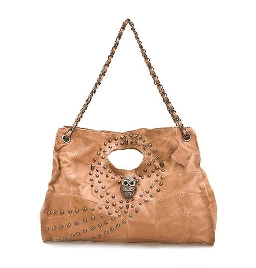 Brown leather satchel handbag, cheap leather handbag
