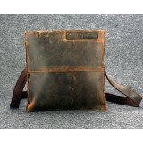 Leather side bag, leather shoulder purse