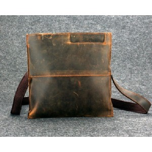 Leather side bag, leather shoulder purse