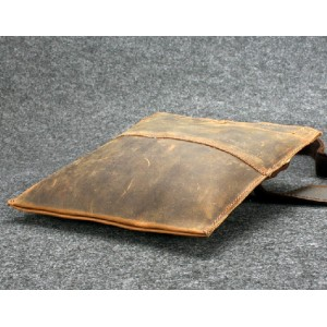 coffee Leather side bag
