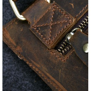 coffee leather shoulder purse