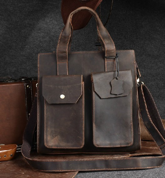 Crossbody travel purse, distressed leather handbag - BagsWish