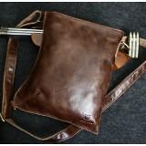 Leather messenger, leather shoulder bag men