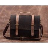 Leather brief bag, leather briefcase for men