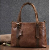Leather shoulder bag for women, leather tote bag