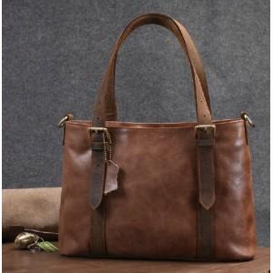 Leather shoulder bag for women, leather tote bag