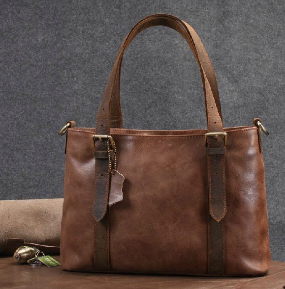 Leather shoulder bag for women, leather tote bag - BagsWish