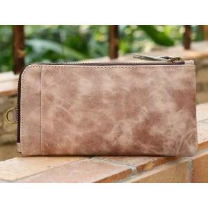 long leather wallet for men