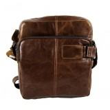 Men leather shoulder bag, men messenger bag