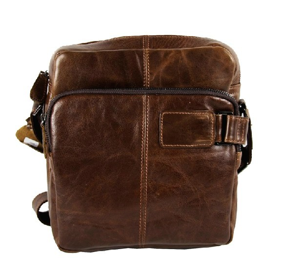 Men leather shoulder bag, men messenger bag - BagsWish