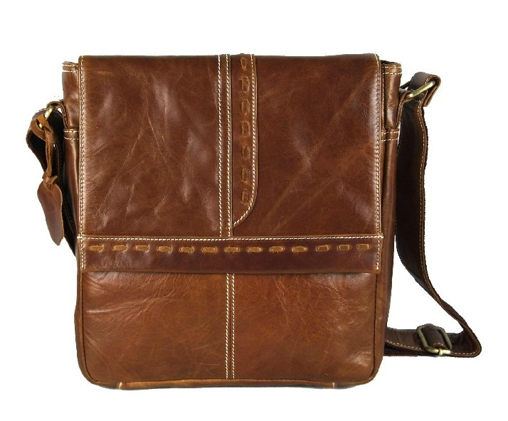 Men messenger bag leather, mens courier bag - BagsWish