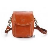 Cowhide mini messenger bag