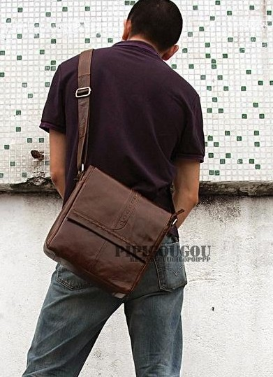 Messenger Bag Leather Retro Mens Courier
