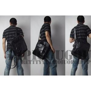 black mens cross body messenger bag