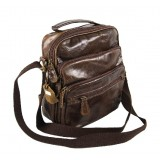 Mens distressed leather messenger bag, mens leather bag