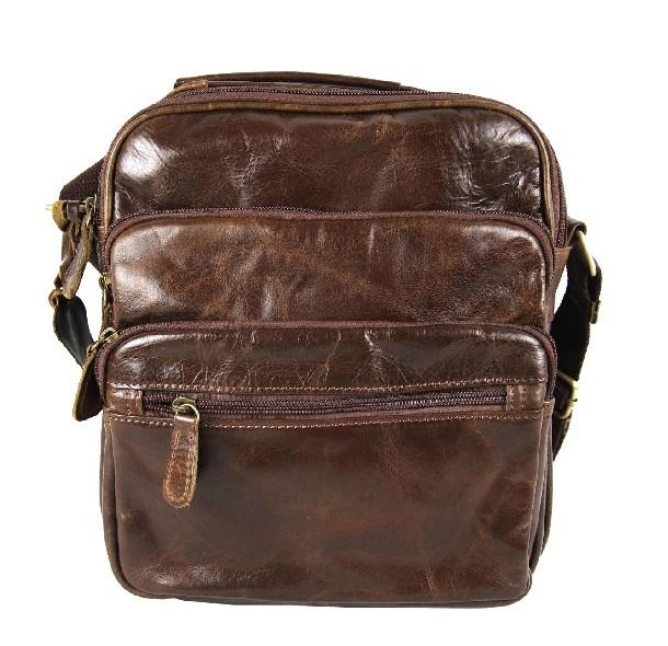 Mens distressed leather messenger bag, mens leather bag - BagsWish