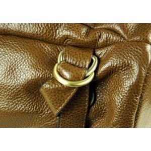 brown leather man bag