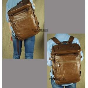 vintage leather man bag