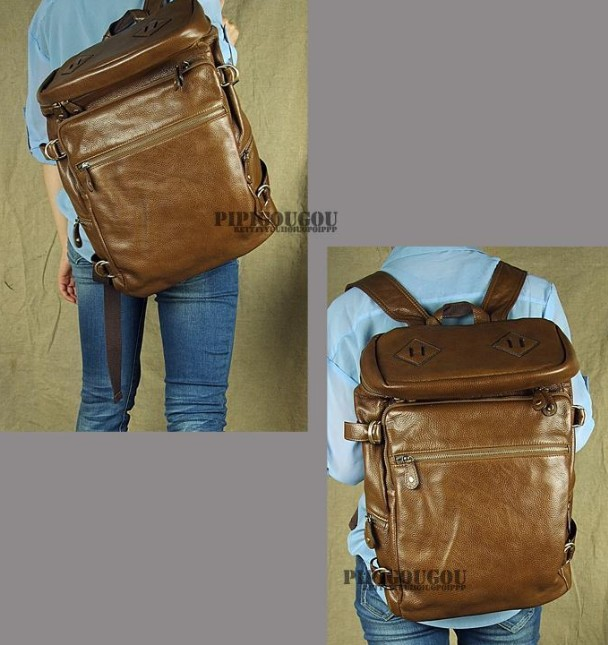 Leather backpack for men, leather man bag - BagsWish