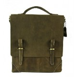 Messenger bag for notebook, leather briefcase