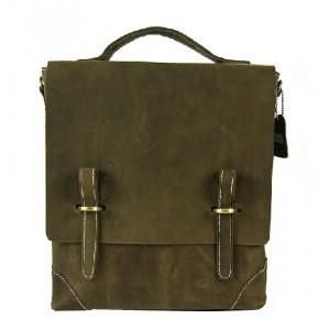 Messenger bag for notebook, leather briefcase