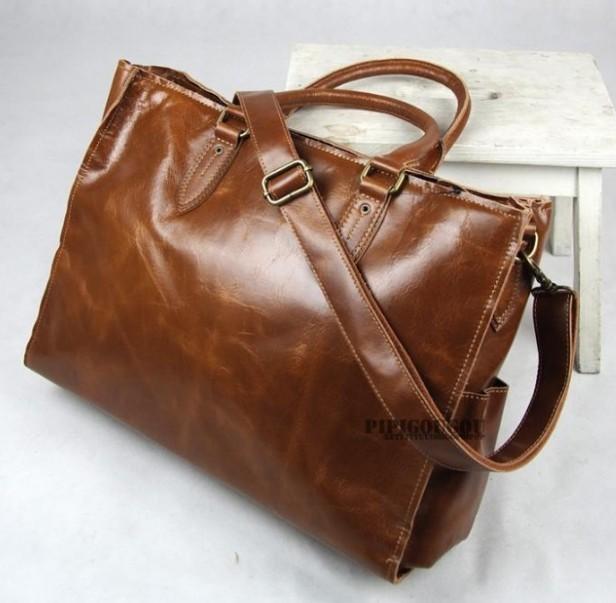 Fashion leather handbag, messenger bag for travel - BagsWish