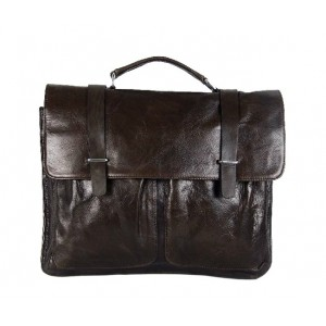 coffee Leather briefcase men