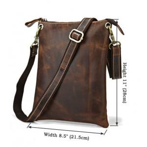 coffee IPAD leather satchel bag