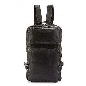 Leather rucksack, leather man bag