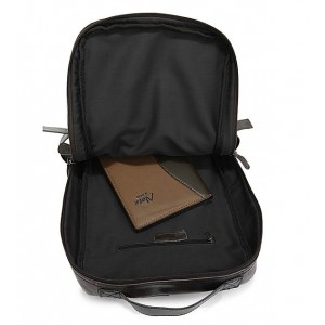 black leather man bag