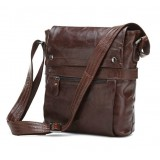 Leather messenger bag for men, messenger bag travel