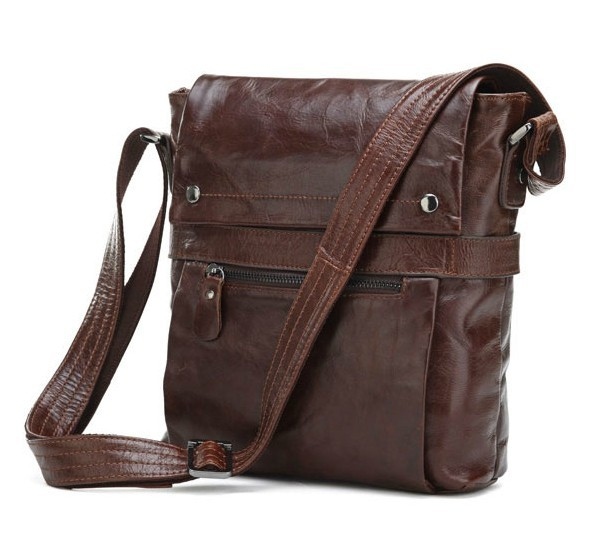 Leather messenger bag for men, messenger bag travel - BagsWish