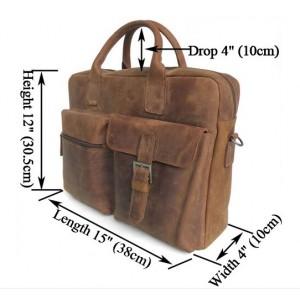 vintage Leather satchel briefcase