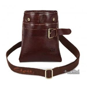 Black leather bag, bucket bag