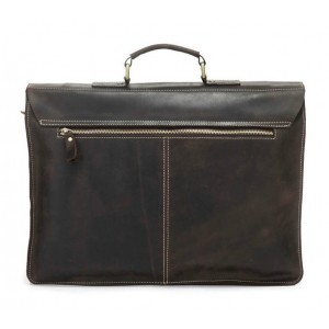 coffee Leather laptop bag